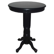 Florence Pedestal Pub Table in Black