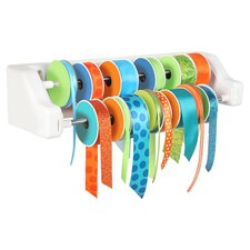 Craft Wall 2 Dowel Ribbon Organizer in White