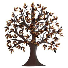 Metro Elite Metal Tree Wall Décor in Brown