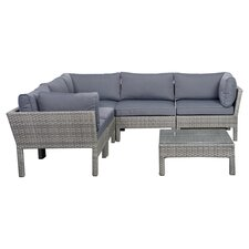 Atlantic 6 Piece Seating Group in Grey