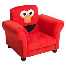 Elmo Giggle Upholstered Chair in Red