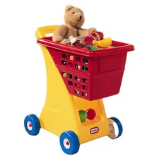 Kids Shopping Cart in Yellow & Red