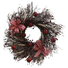 "22"" Apple Harvest Twig Wreath"