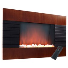Electric Fireplace in Brown