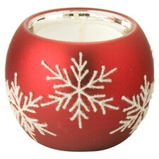 Snowflake Tealight Holder in Red