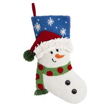 3D Snowman Hooked Stocking in White