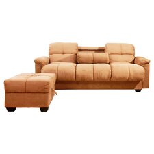 Phila Sleeper Sofa & Ottoman in Brown
