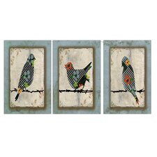 Song Bird Triptych Wall Art