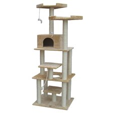 "76"" Cat Tree in Beige I"