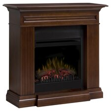 Branagan Electric Fireplace in Brown