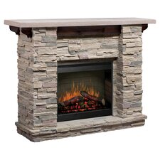 Featherston Electric Fireplace in Grey