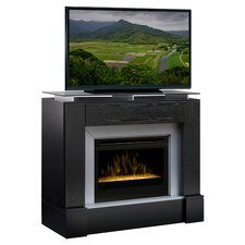 "48"" TV Stand & Electric Fireplace in Black"