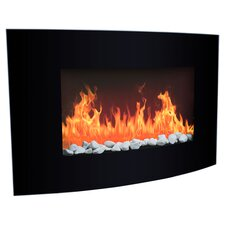 Arched Electric Fireplace in Black
