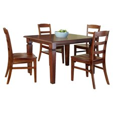 Aspen 5 Piece Dining Set in Rustic Cherry