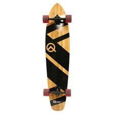 Quest Super Cruiser Bamboo Longboard Skateboard in Maple
