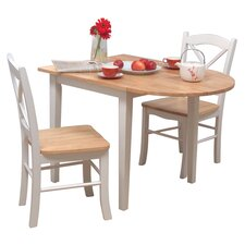 Tiffany 3 Piece Dining Set in White