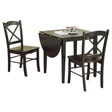 Tiffany 3 Piece Dining Set in Black