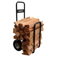 Firewood Log Caddy in Black