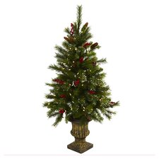 4' Clear Pre-Lit Nearly Natural Pine Artificial Tree