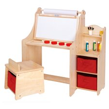 Kids' Funtime Desk & Chair in Natural