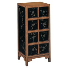 Howelsen 4 Drawer Chest in Black & Aged Pine