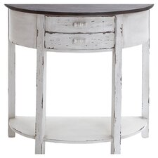 Axius Demilune Console Table in Antique White