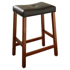 "Saddle Seat 24"" Counter Stool in Cherry"
