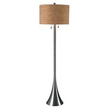 Atreus Floor Lamp in Brushed Steel
