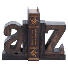 Alphabet Wood Bookend in Bronze