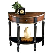 Artist's Originals Demilune Console Table in Café Noir