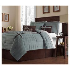 Ellington 7 Piece Comforter Set in Blue