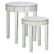 Abel 2 Piece Mirrored Nesting End Table Set