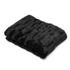 Roberto Faux Mink Amee Throw in Black
