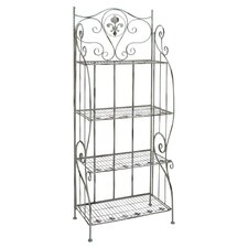 Storage Baker's Rack in Distressed Silver