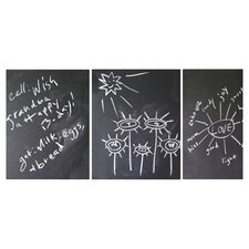 3 Piece Chalkboard Wall Decal Set in Black
