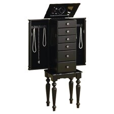 Lubec Jewelry Armoire in Black