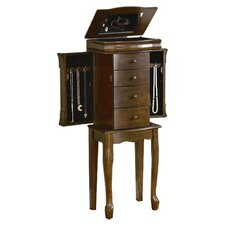 Louis Philippe Jewelry Armoire in Walnut