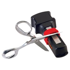 Manual Diamond Hone Scissor Sharpener in Black