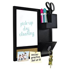 Combo Dry Erase & Cork Board in Black