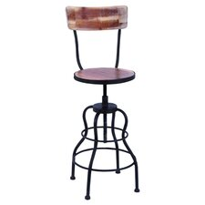 Loiret Adjustable Barstool in Distressed Natural