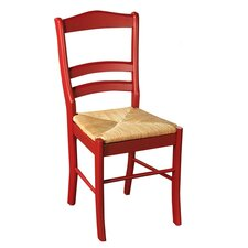 Paloma Side Chair in Red & Oak (Set of 2)