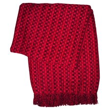 Spice Viscose Throw in Red