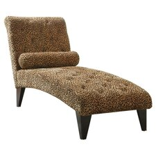 Velvet Leopard Chaise Lounge in Brown