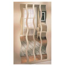 4 Piece Wave Strip Mirror Set