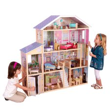 Majestic Mansion Dollhouse Set in Pink