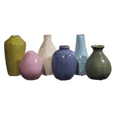 Tuscan 6 Piece Mini Vase Set