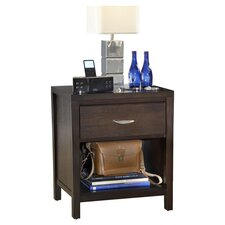 Loft 1 Drawer Nightstand in Brown