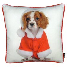 Holiday King Charles Pillow in White