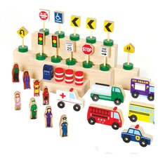 Block Play 32 Piece Community & Roadway Building Set