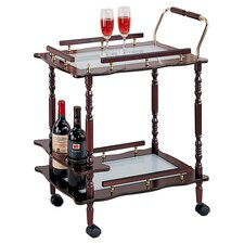 Flagstaff Serving Cart in Cherry